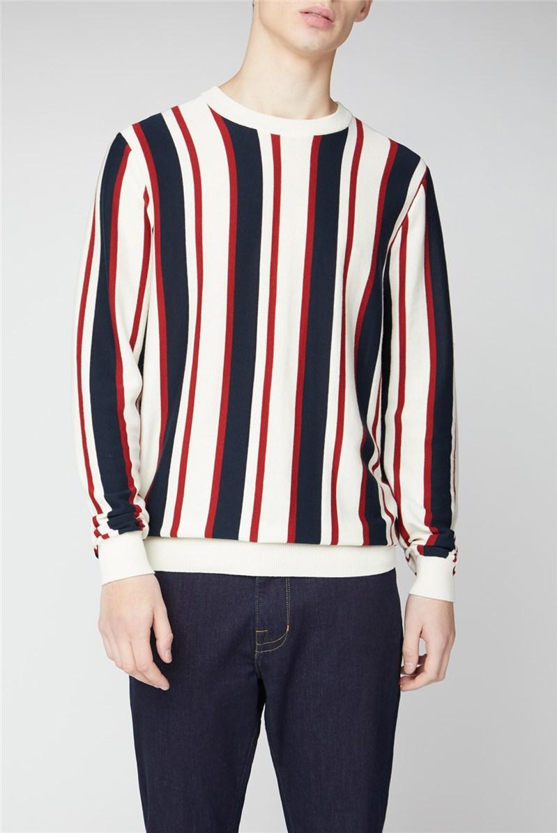 Knitted Mod Stripe Crew