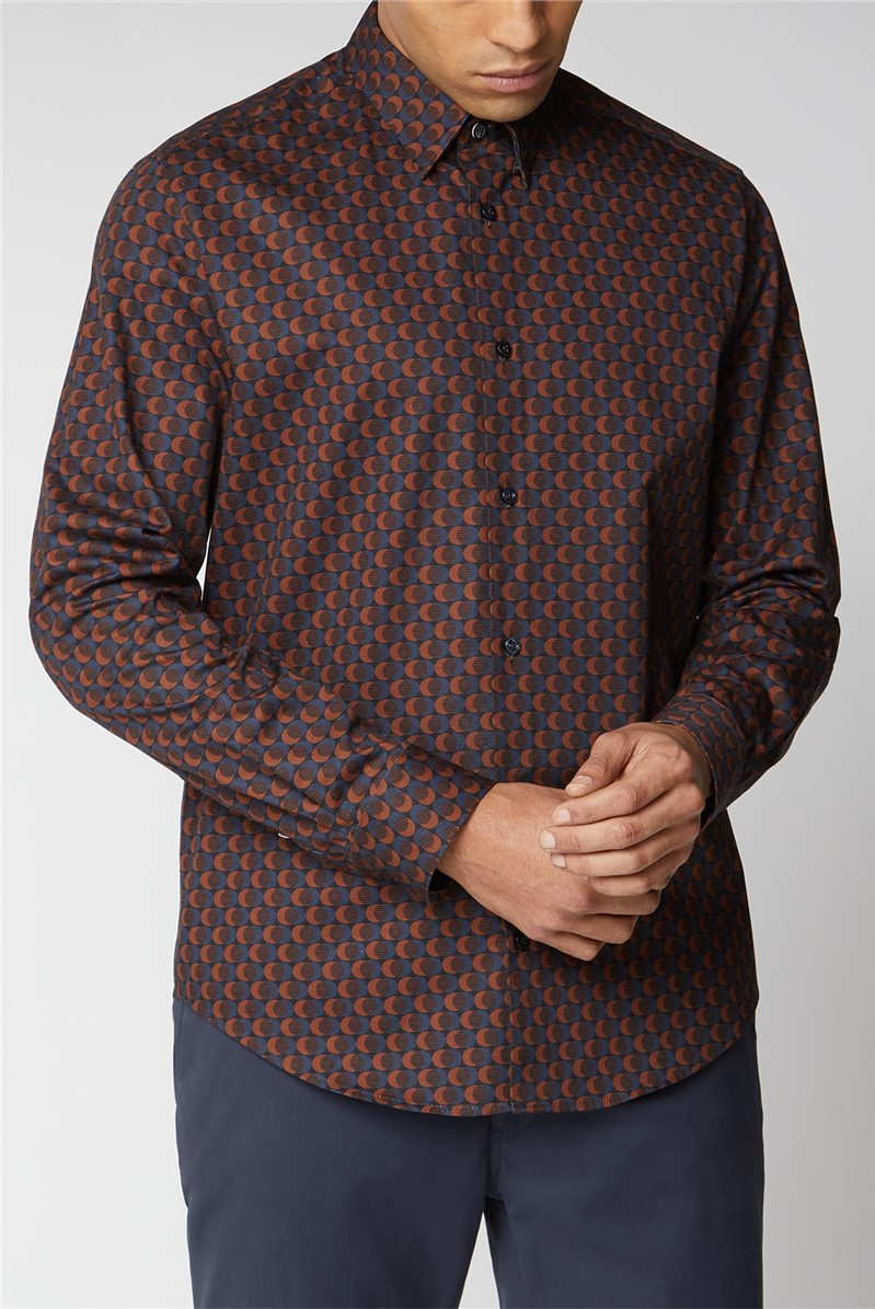 Long Sleeve Printed Twill Shirt