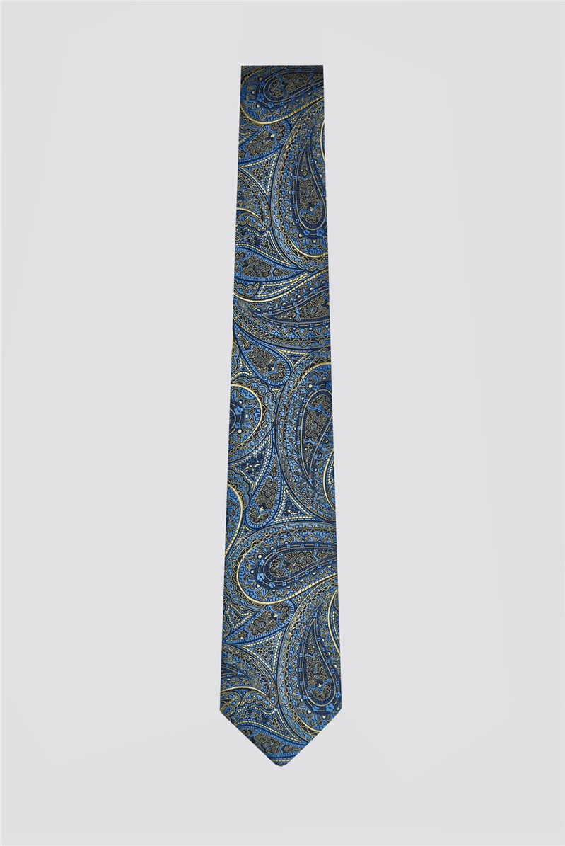 Scott & Taylor Gold Large Paisley Tie