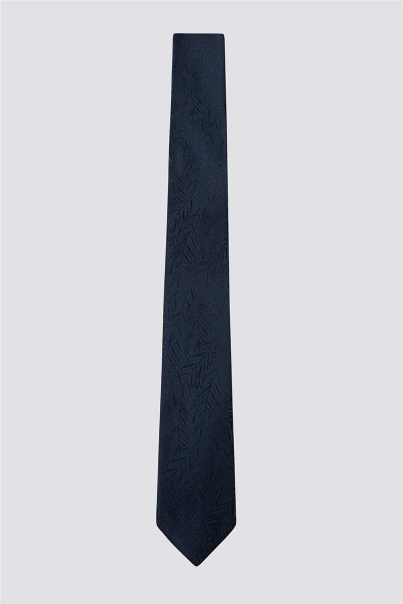 Navy Leaves Tie