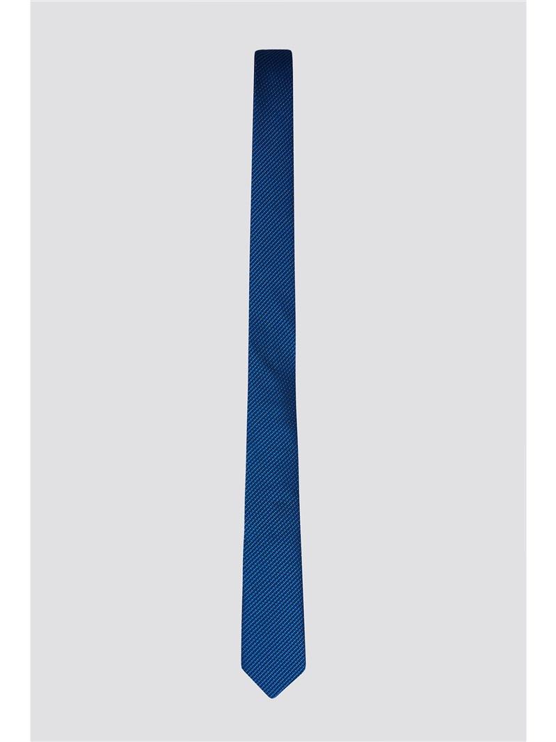 Blue Lurex Spot Prom Tie
