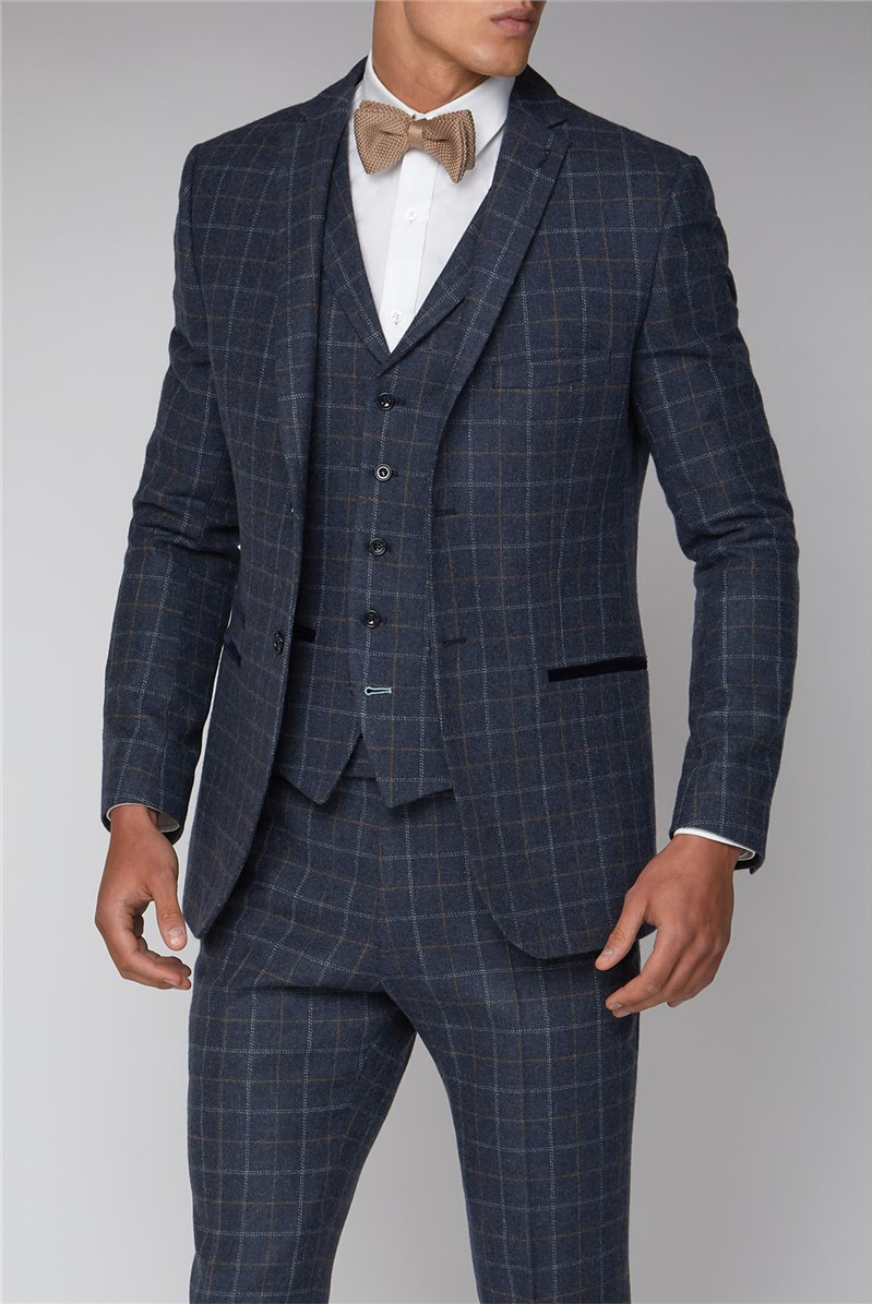 Blue Check Slim Jacket