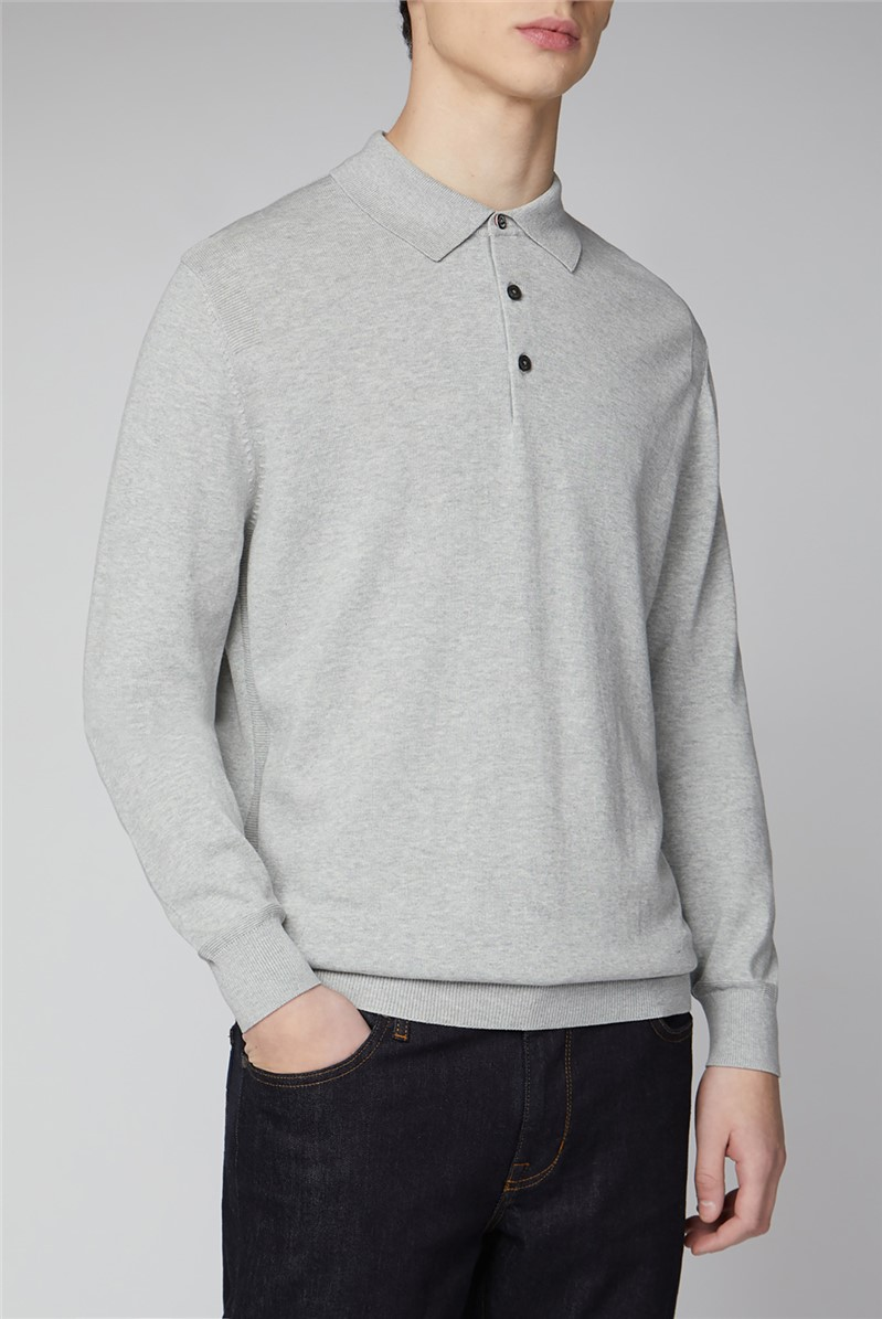 Signatue Cotton Long Sleeve Polo