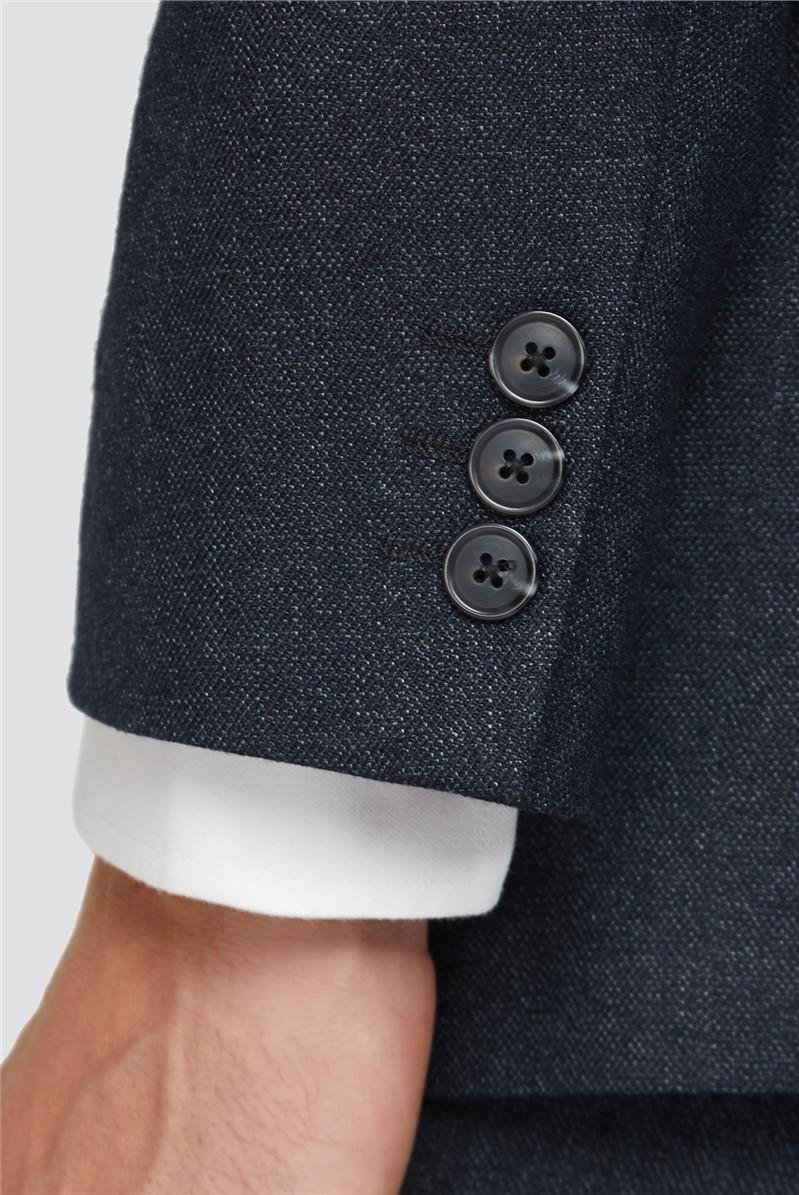 Charcoal Semi Plain Regular Fit Suit Trouser