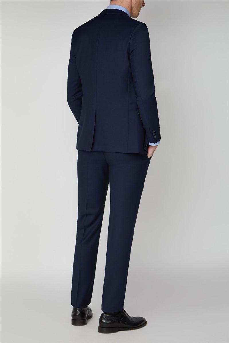 Bright Blue Semi Plain Suit