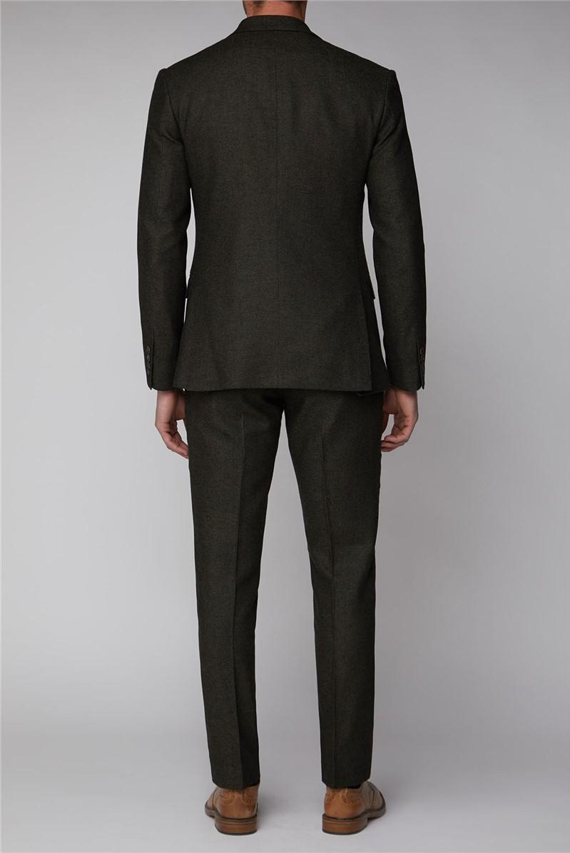 Green Texture Waistcoat