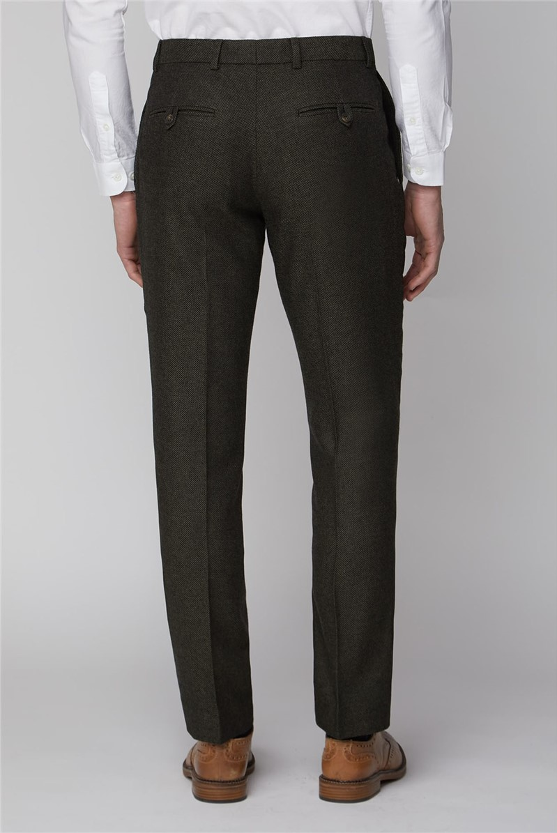 Dark Green Tailored Fit Trouser