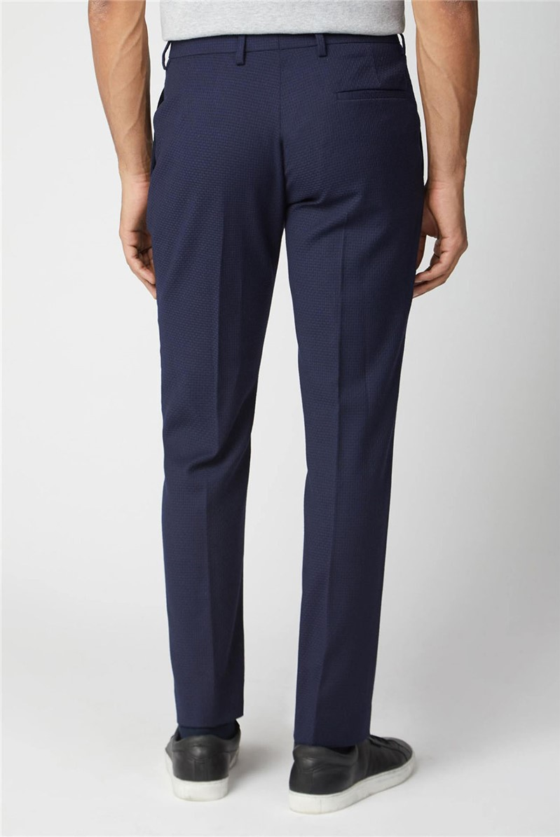 Deep Blue Tailored Suit Trousers