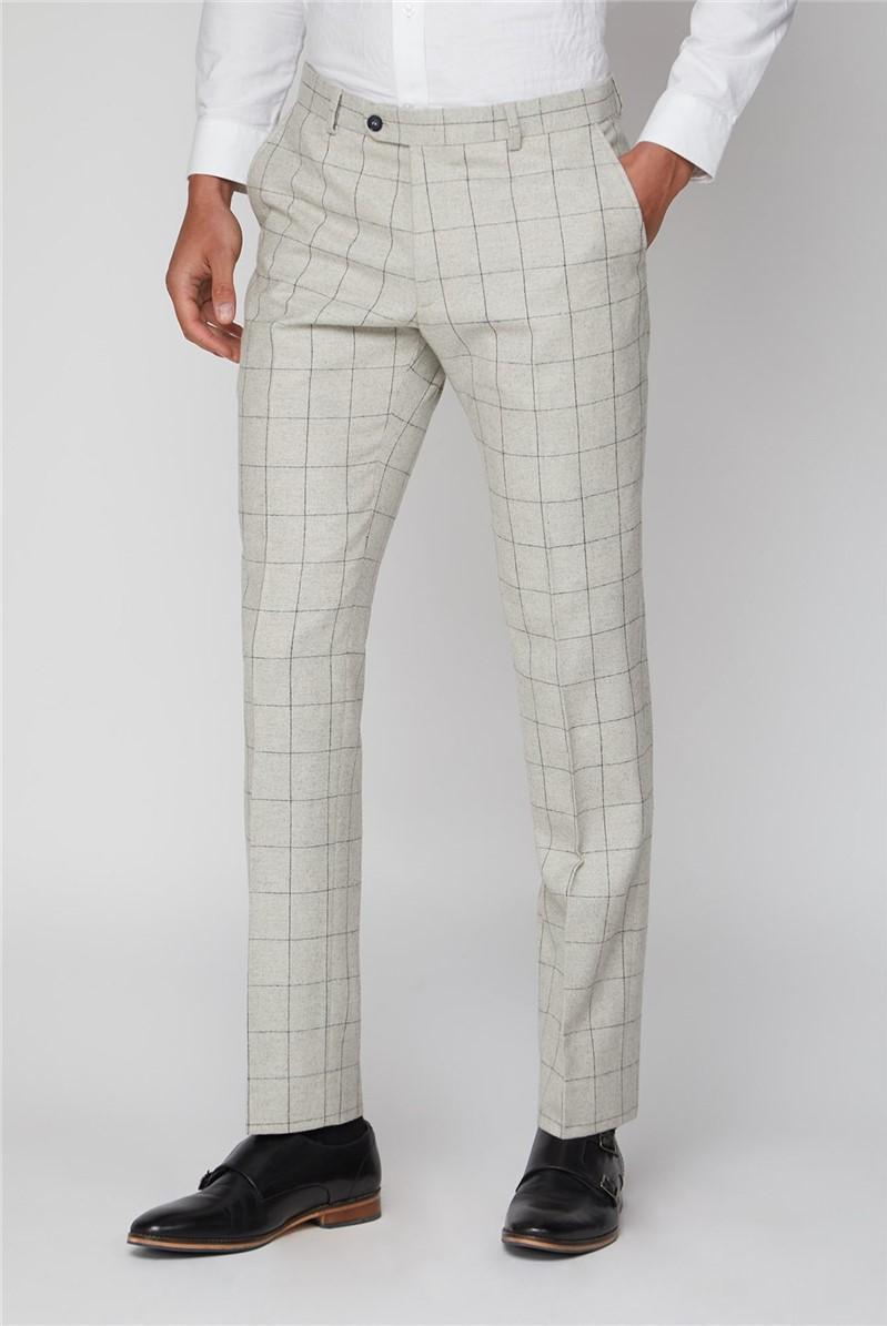 Cream Check Slim Fit Trouser