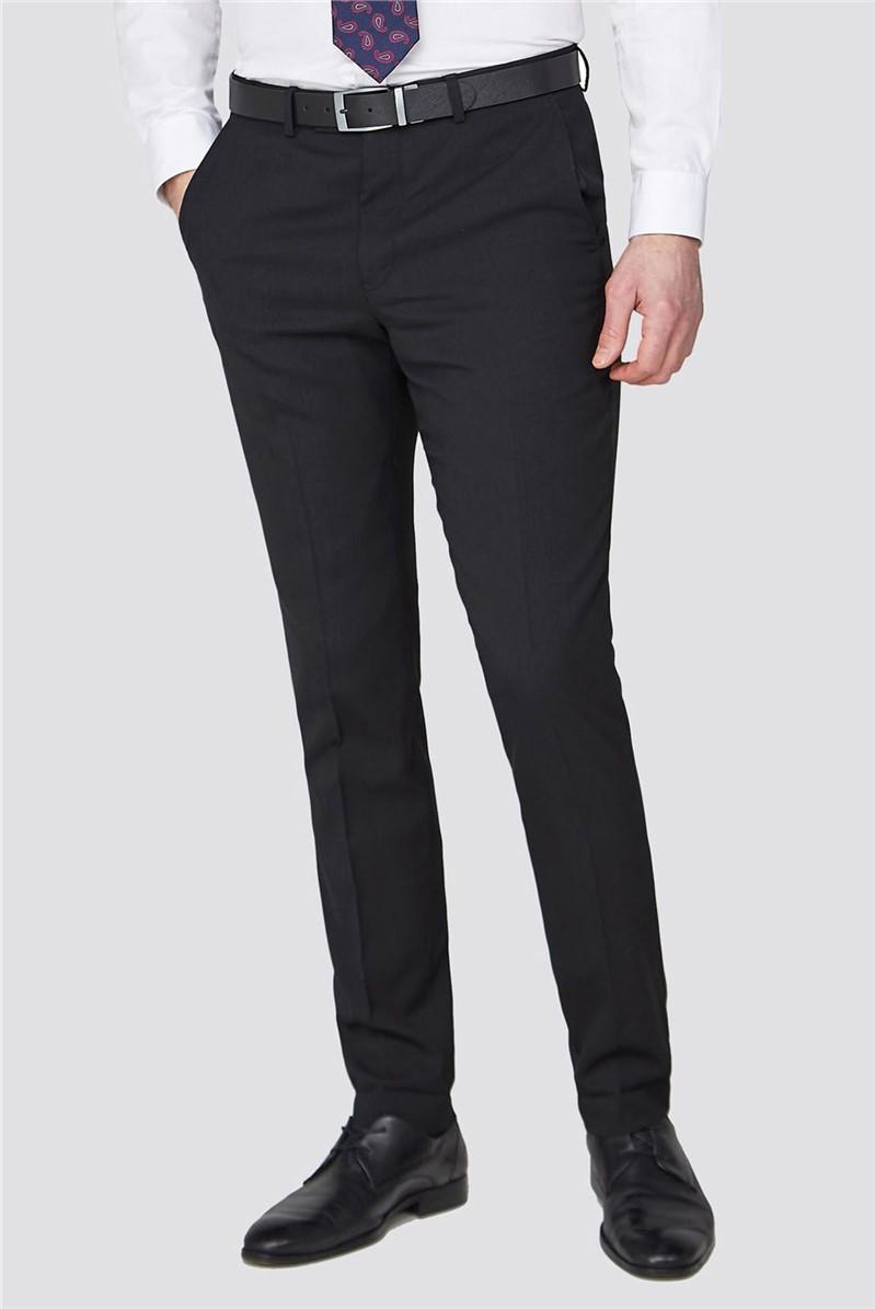 Studio Black Textured Performance Suit Trousers
