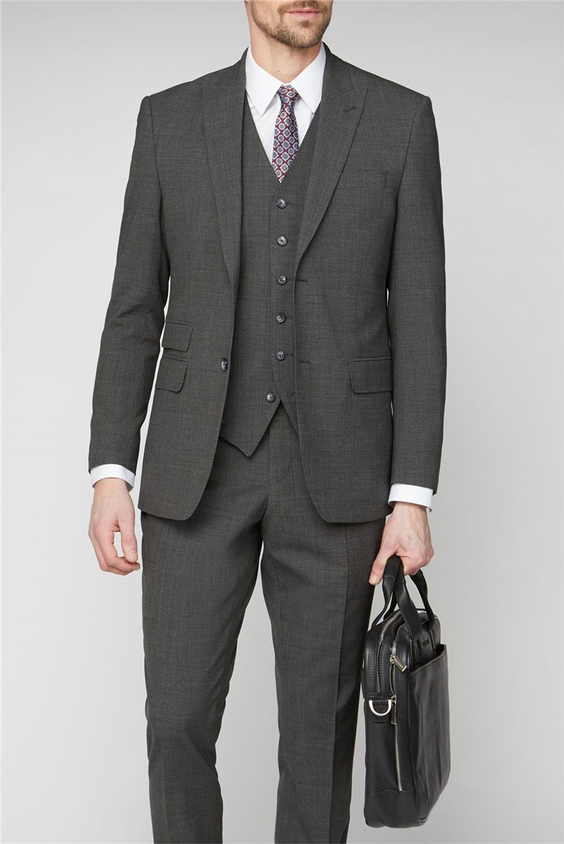 Studio Grey Jacquard Textured Performance Suit Jacket