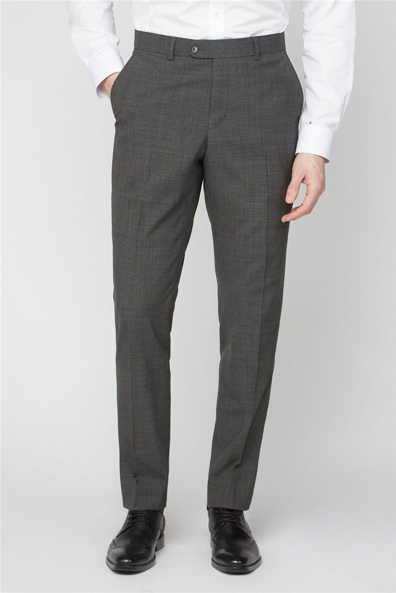 Stvdio Grey Jacquard Textured Performance Tailored Fit Suit Trousers