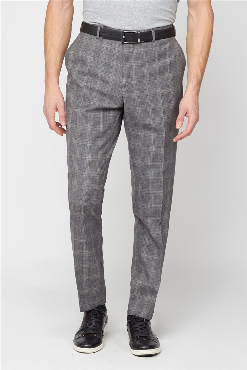 Mulberry Check Regular Fit Suit Trouser