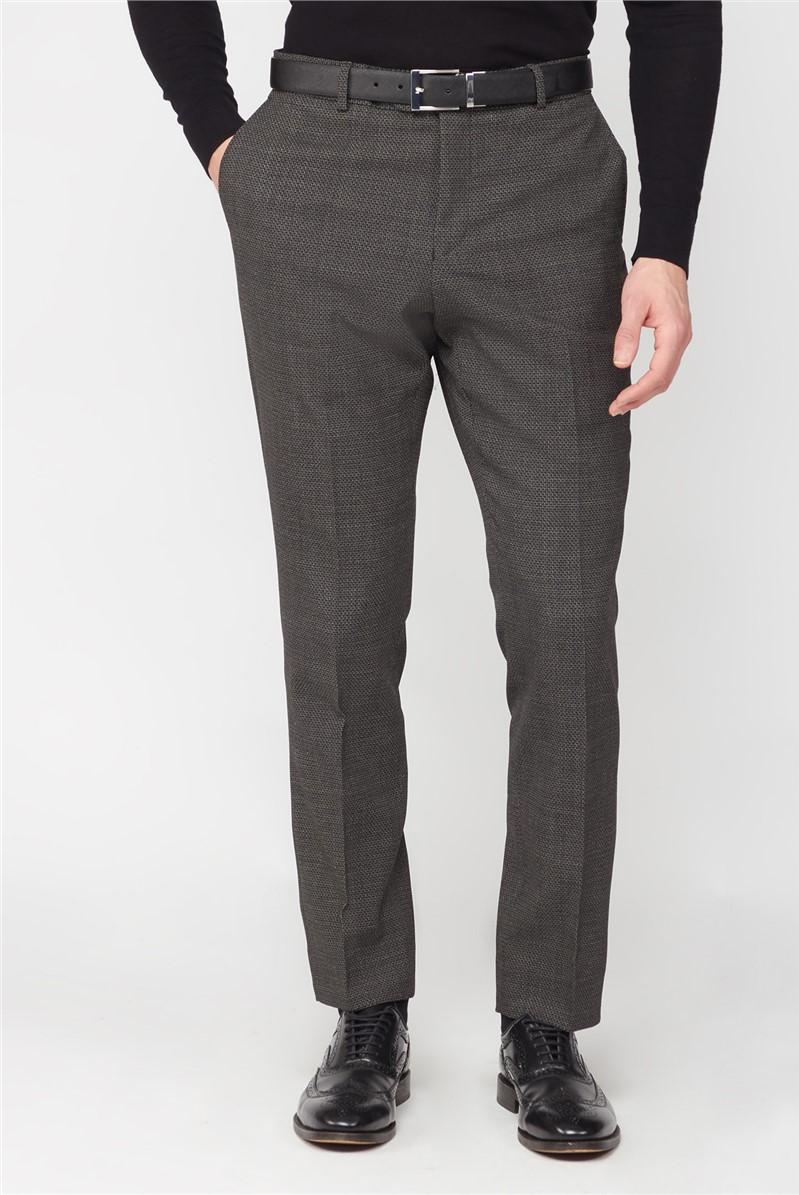 Charcoal Texture Travel Suit Trouser