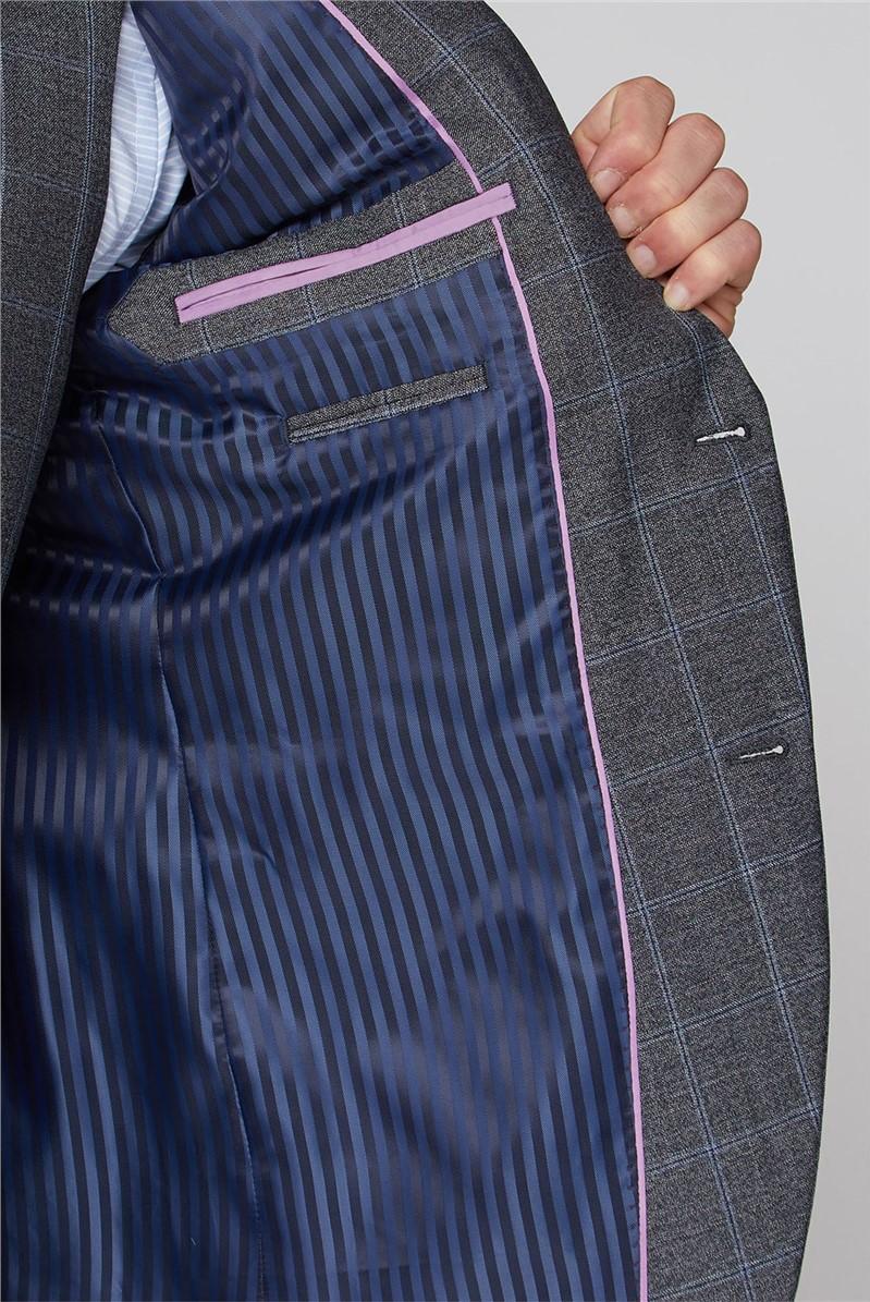 Grey Windowpane Check Soho Suit