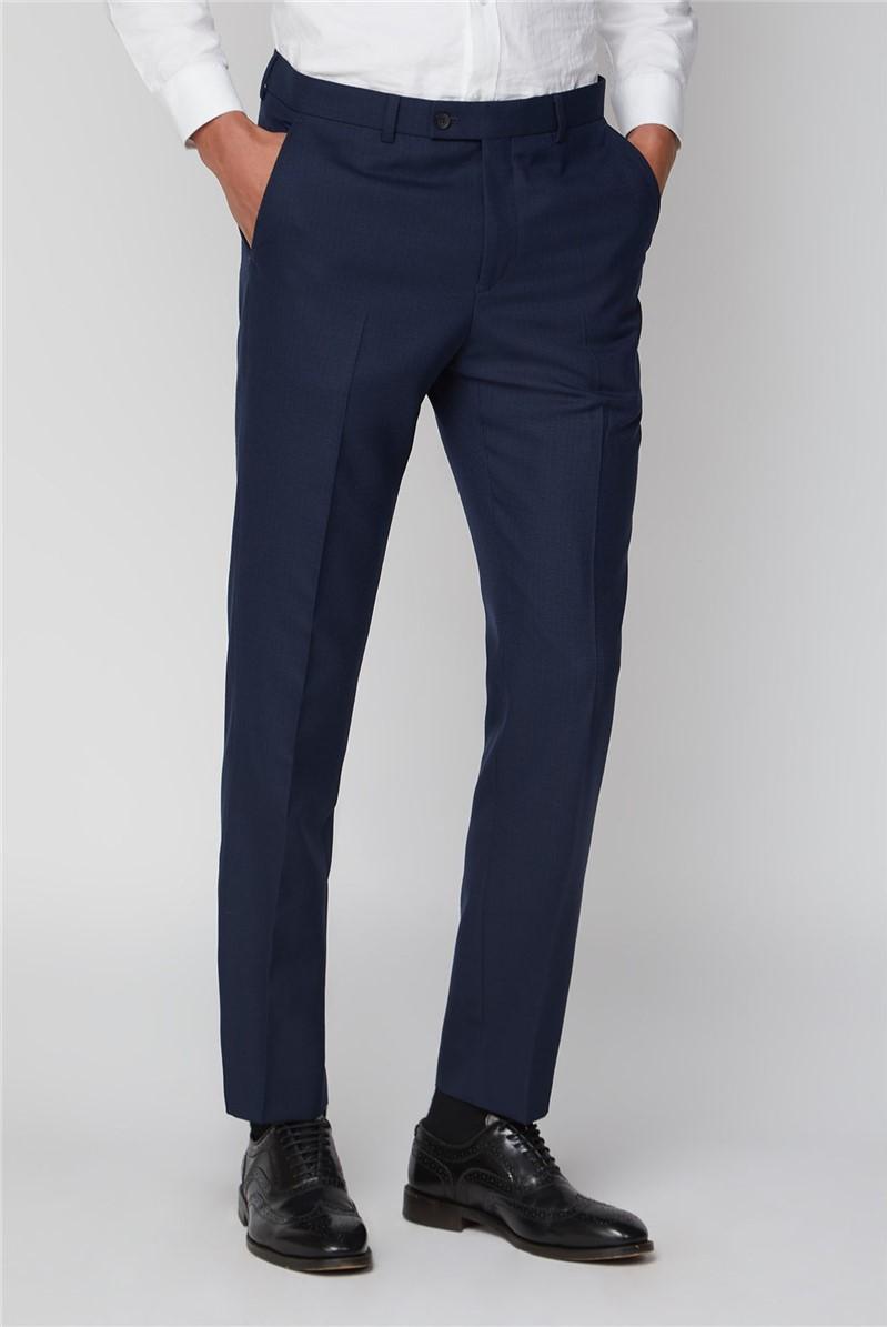 Stvdio Blue Scratch Texture Slim Fit Ivy League Suit
