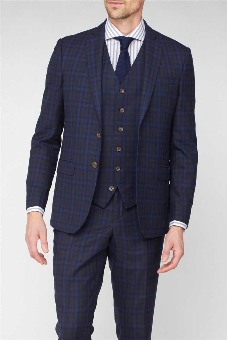Stvdio Blue Green Jaspe Check Ivy League Suit