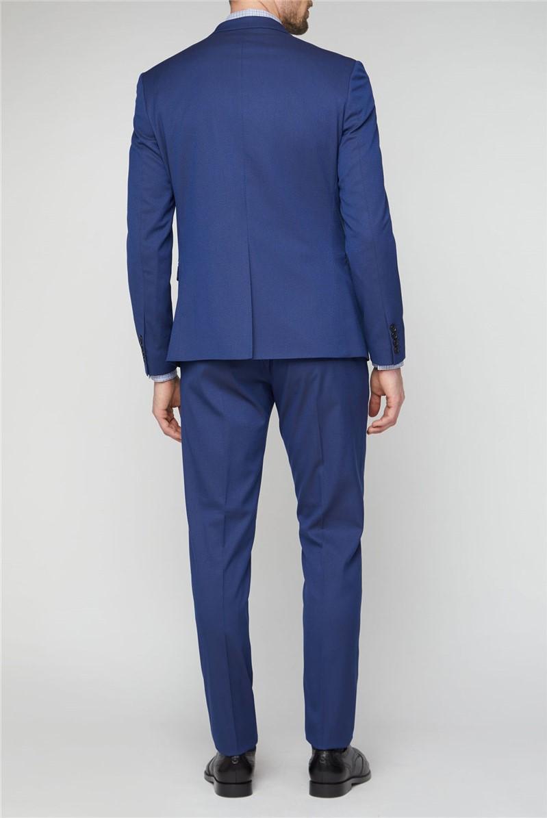 Stvdio Bright Blue Jaquard Super Slim Brit Trousers