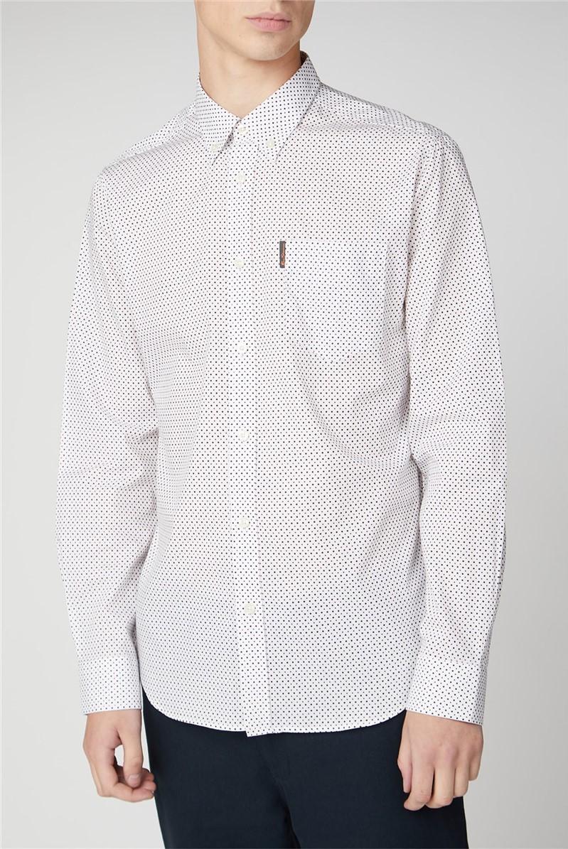 Long Sleeve Contrast Spot Print Shirt