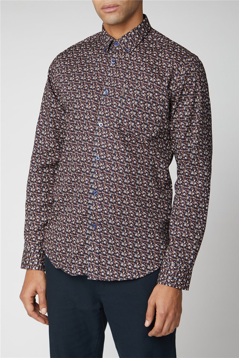Long Sleeve Multi Colour Floral Shirt