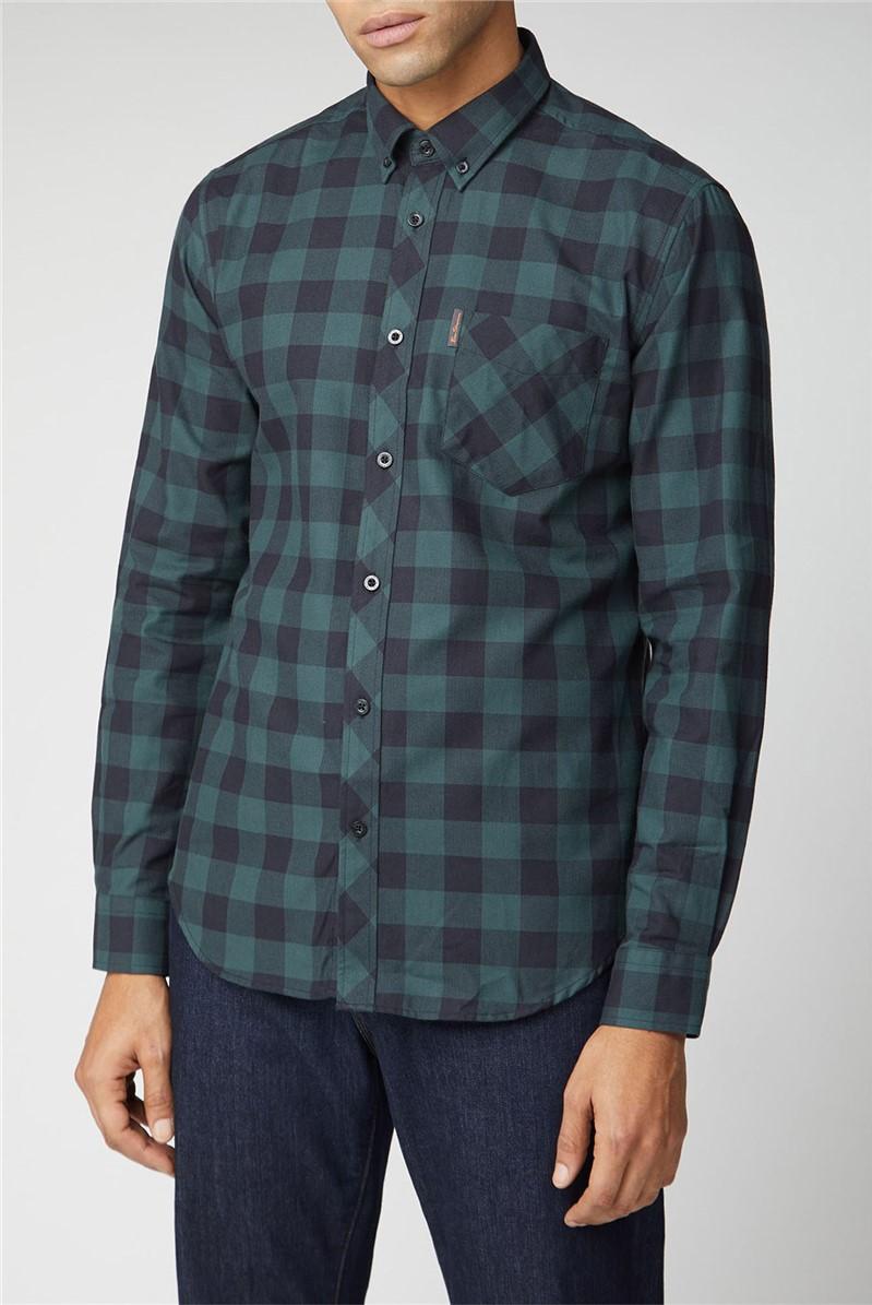 Ben Sherman Script Long Sleeve Flannel Check Shirt