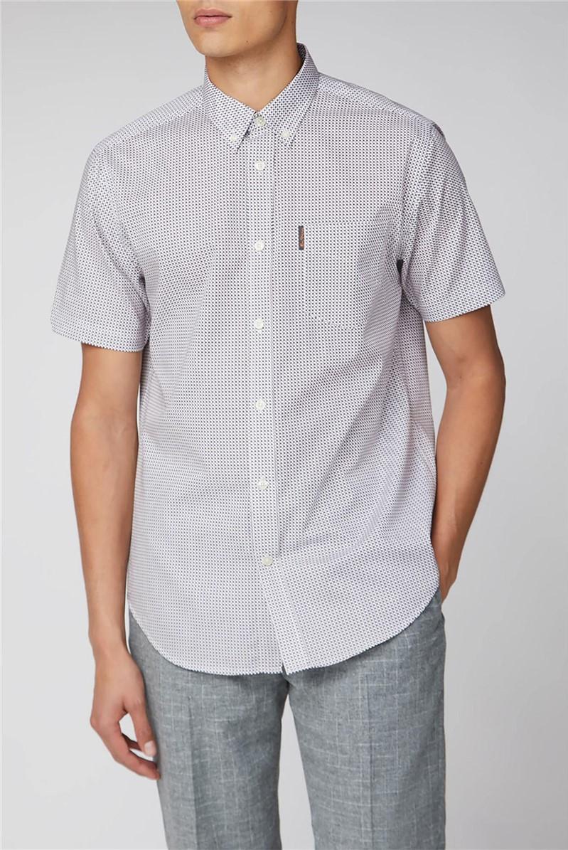 Short Sleeve Micro Cross Print Shirt