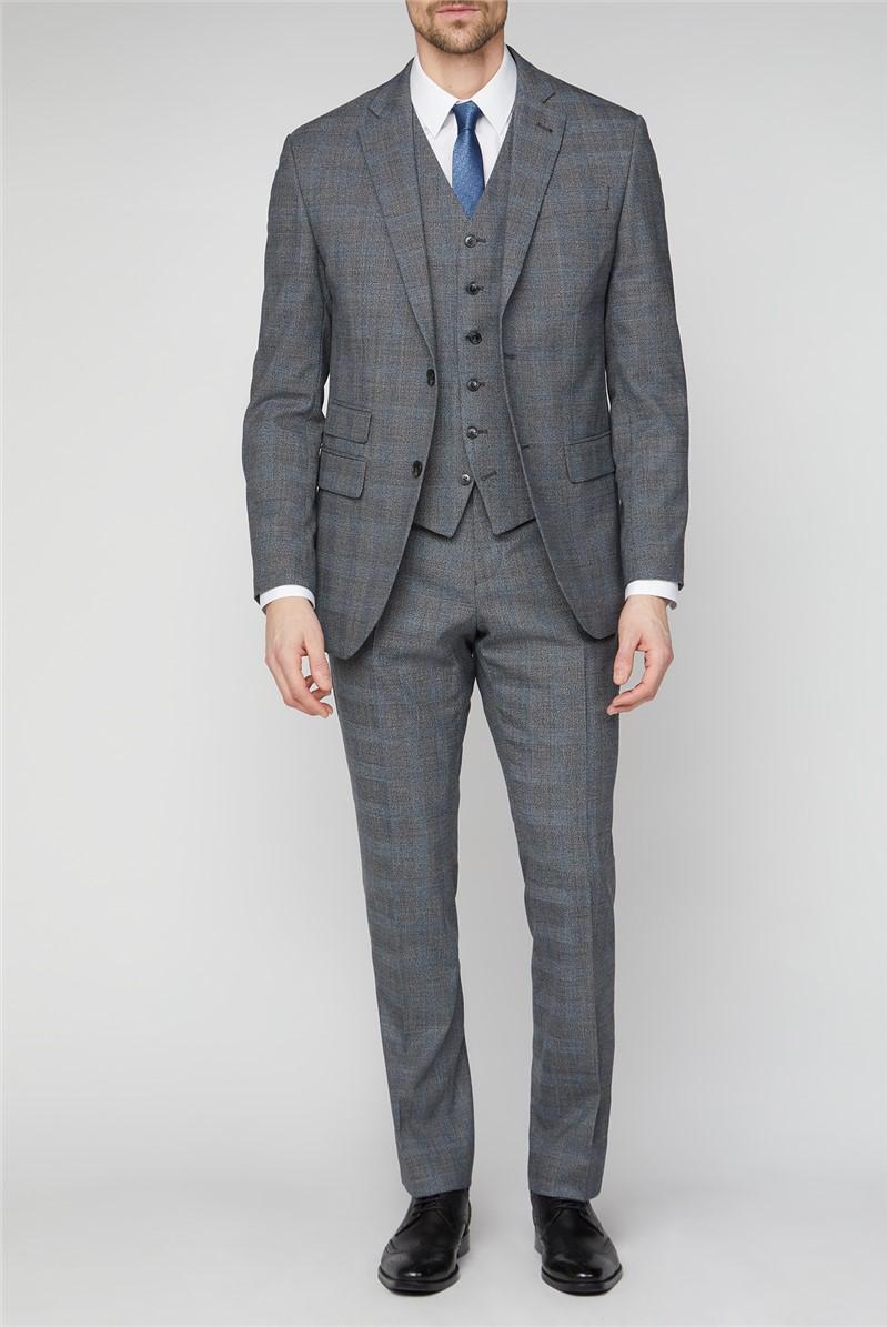 Grey Jaspe Checked Suit
