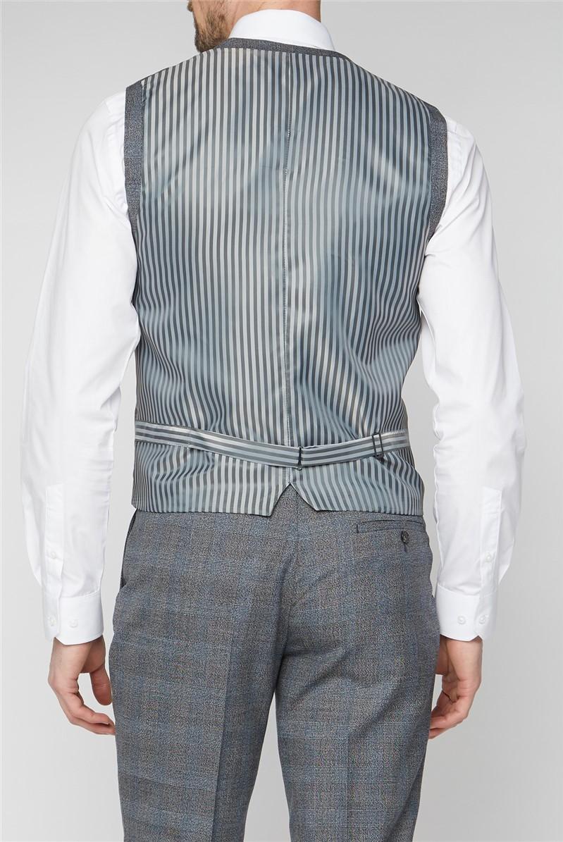 Grey Jaspe Checked Waistcoat