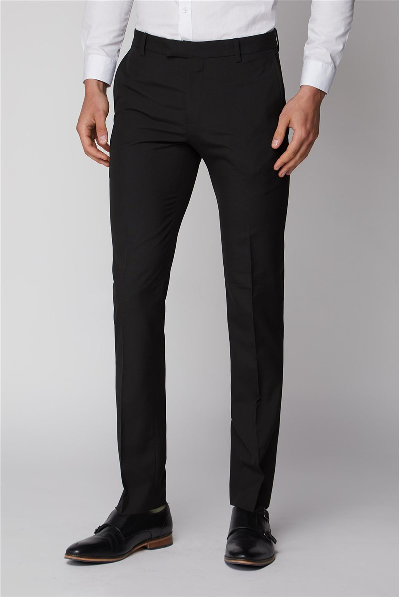 Black Stretch Skinny Fit Suit Trouser