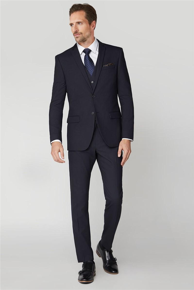 Navy Stretch Slim Fit Suit