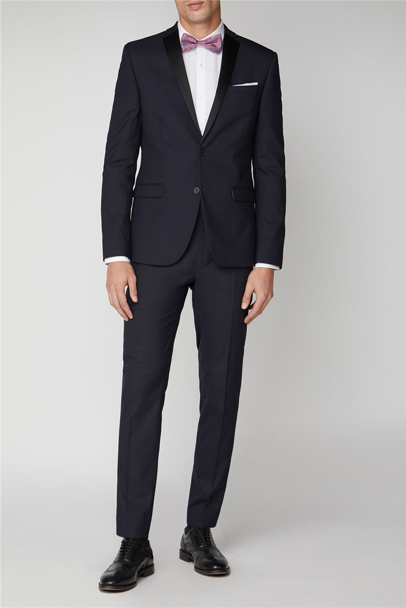 Navy Stretch Mens Dinner Jacket
