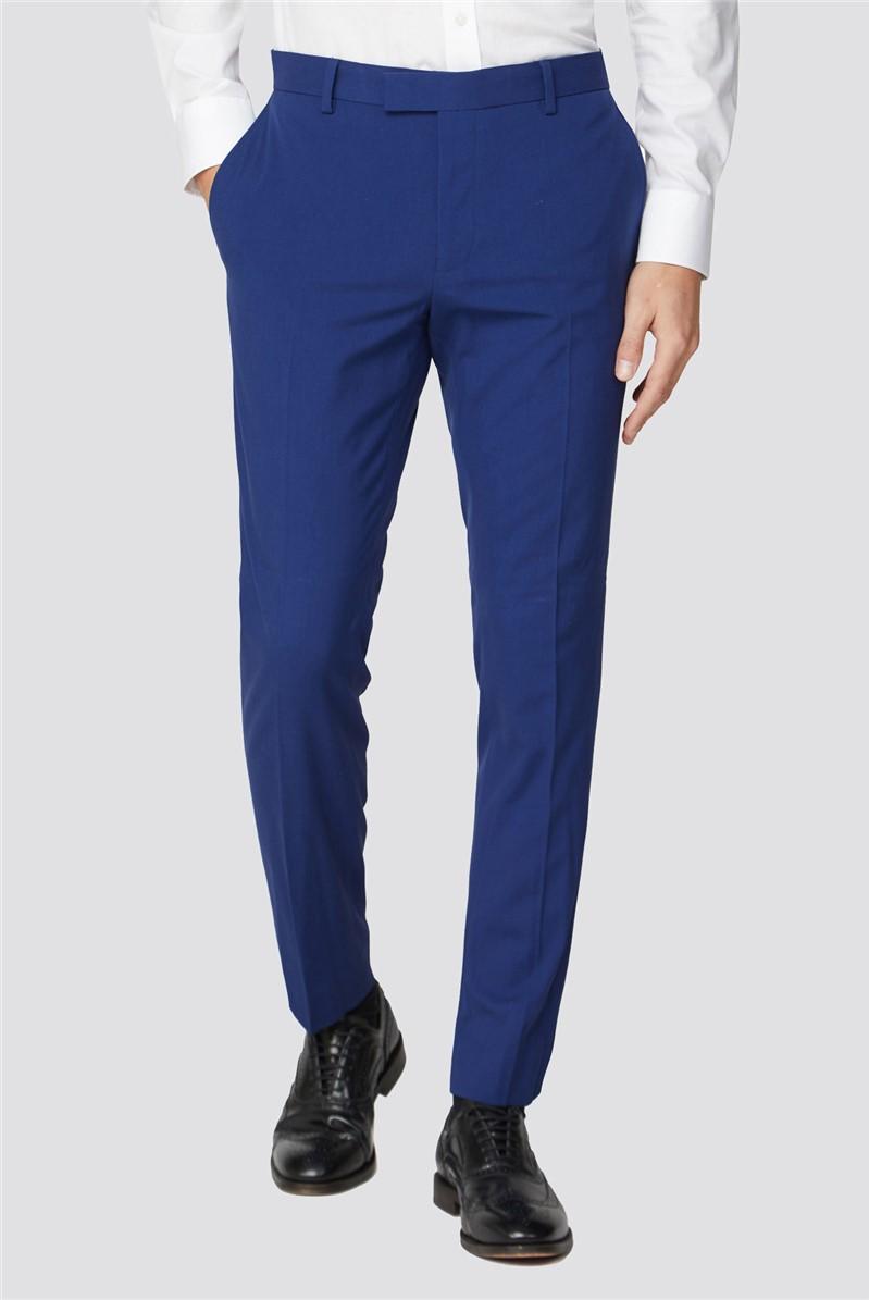 Bright Blue Plain Skinny Fit Trouser