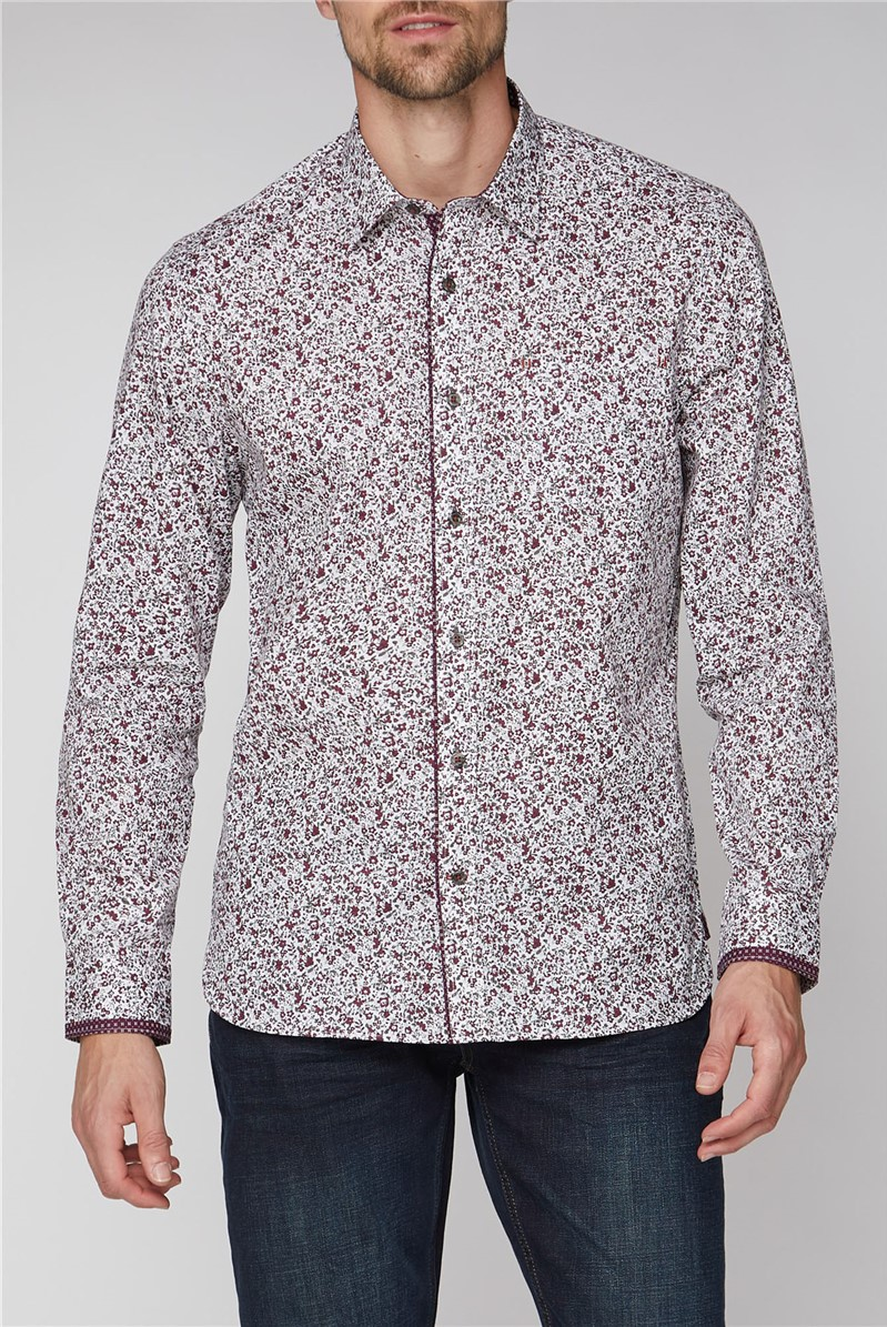 Stvdio Wine Floral Print Shirt
