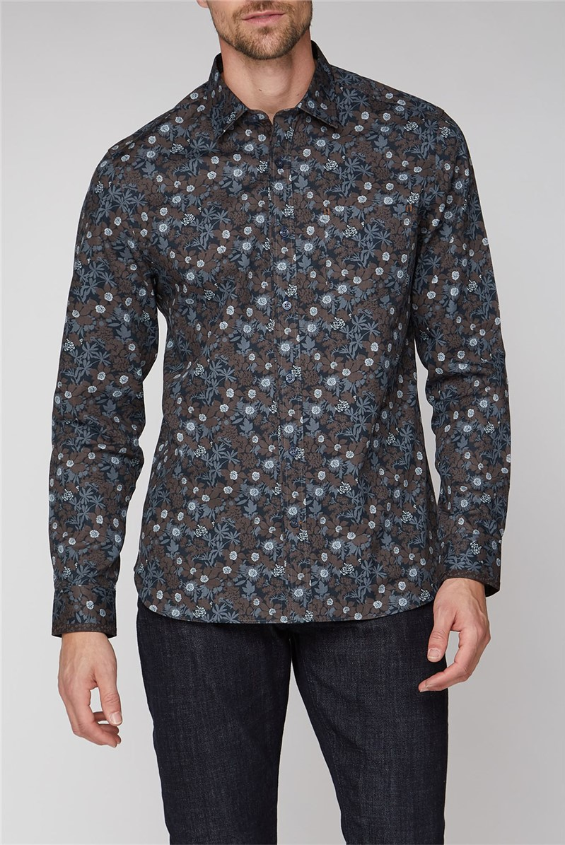 Stvdio Casual by Black Large Floral Shirt