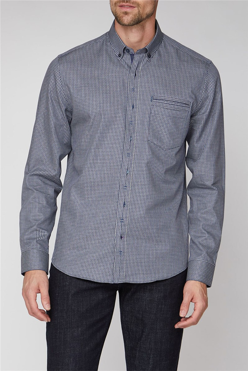 Blue Arrow Gingham Shirt