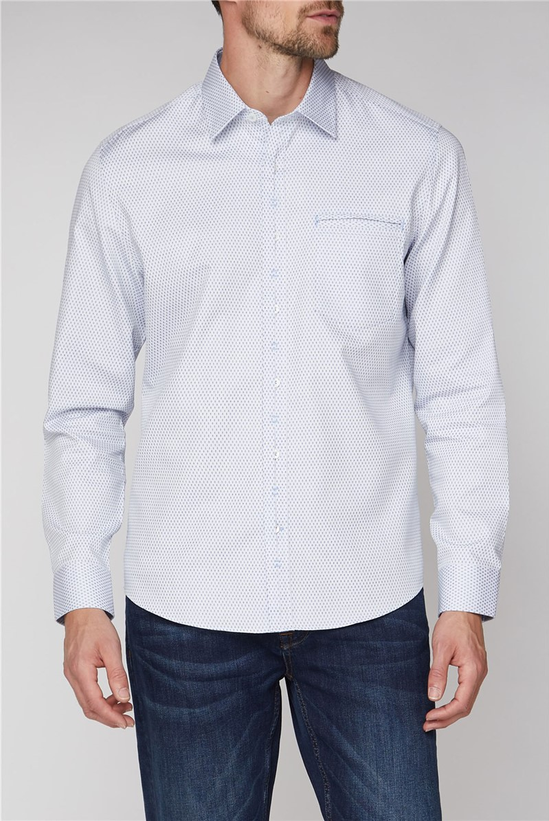 Stvdio Casual White Oval Dobby