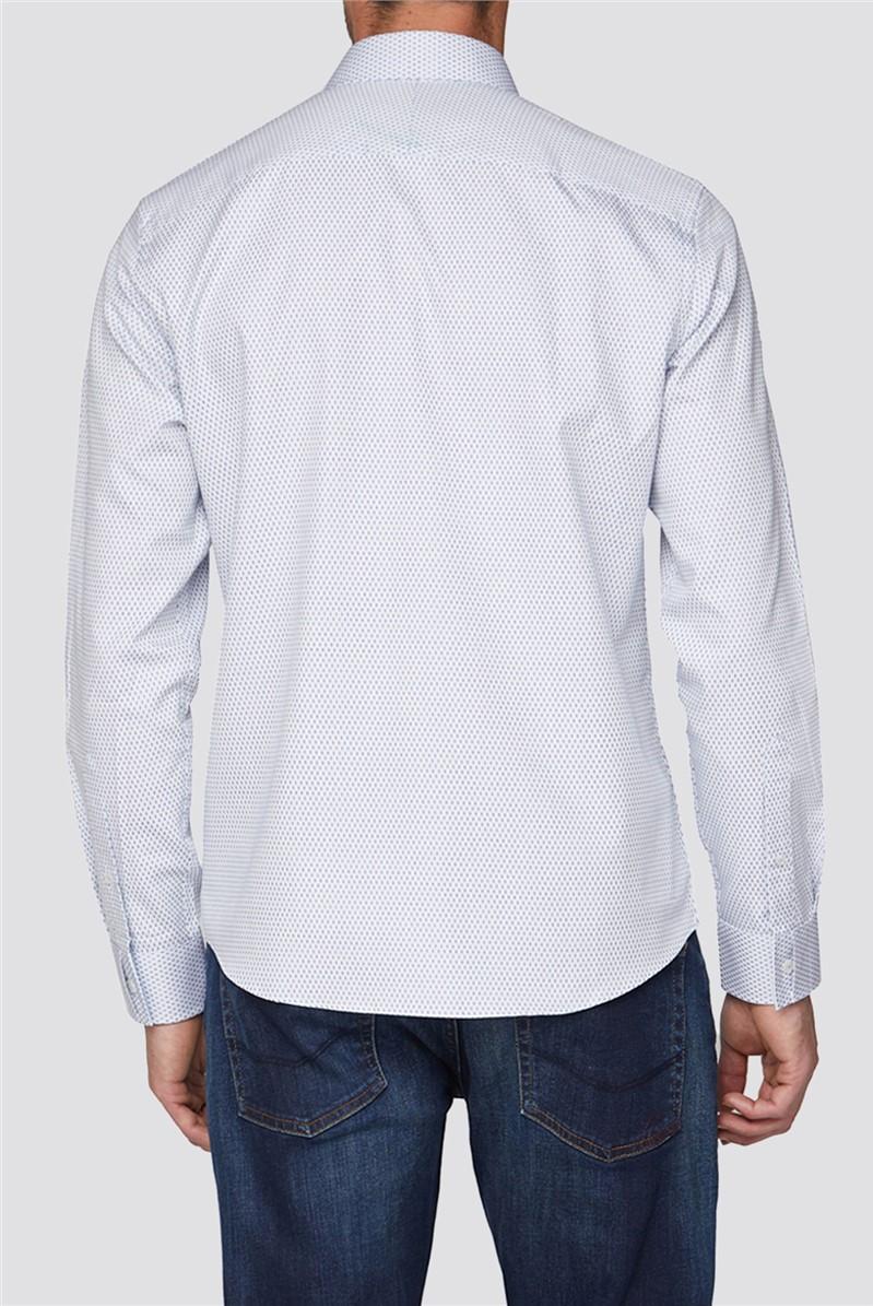 White Oval Dobby Shirt