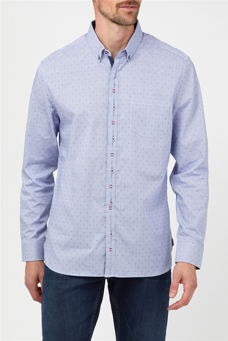 Stvdio Dobby Check Formal Shirt