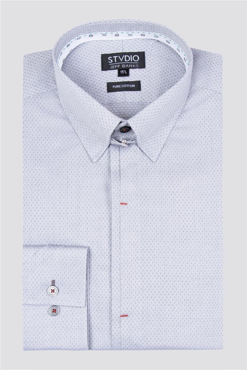 Stvdio Grey Diamond Dobby Shirt