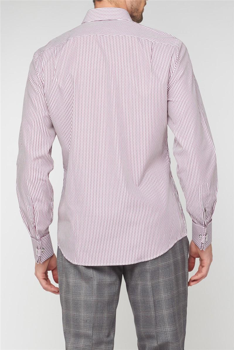 Stvdio Burgundy Dobby Stripe Shirt