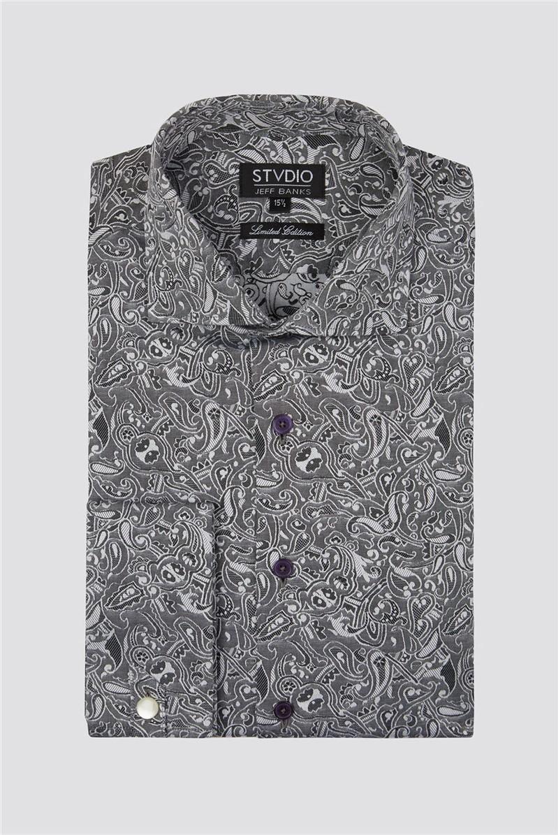 Stvdio Grey Jacquard Shirt