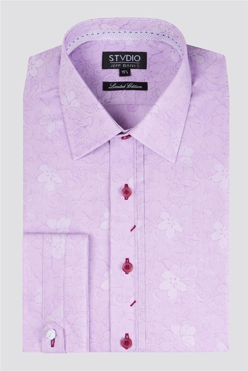 Stvdio Magenta Jacquard Shirt