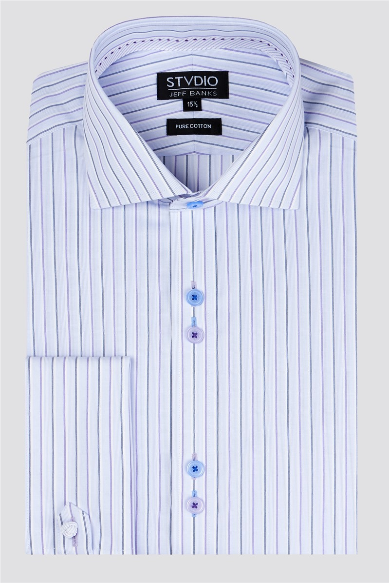 Stvdio by Lilac End on End Stripe Shirt