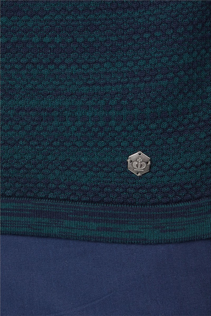 Teal Twisted Crew Neck