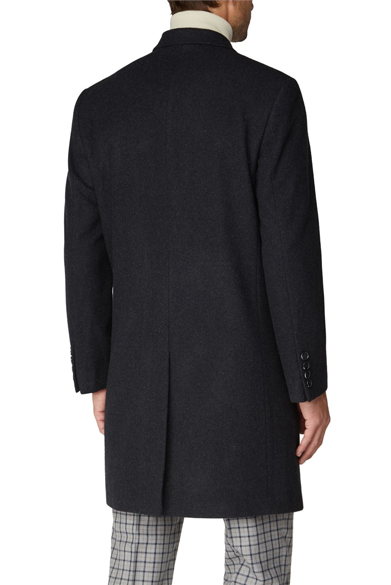 Charcoal Melton Overcoat