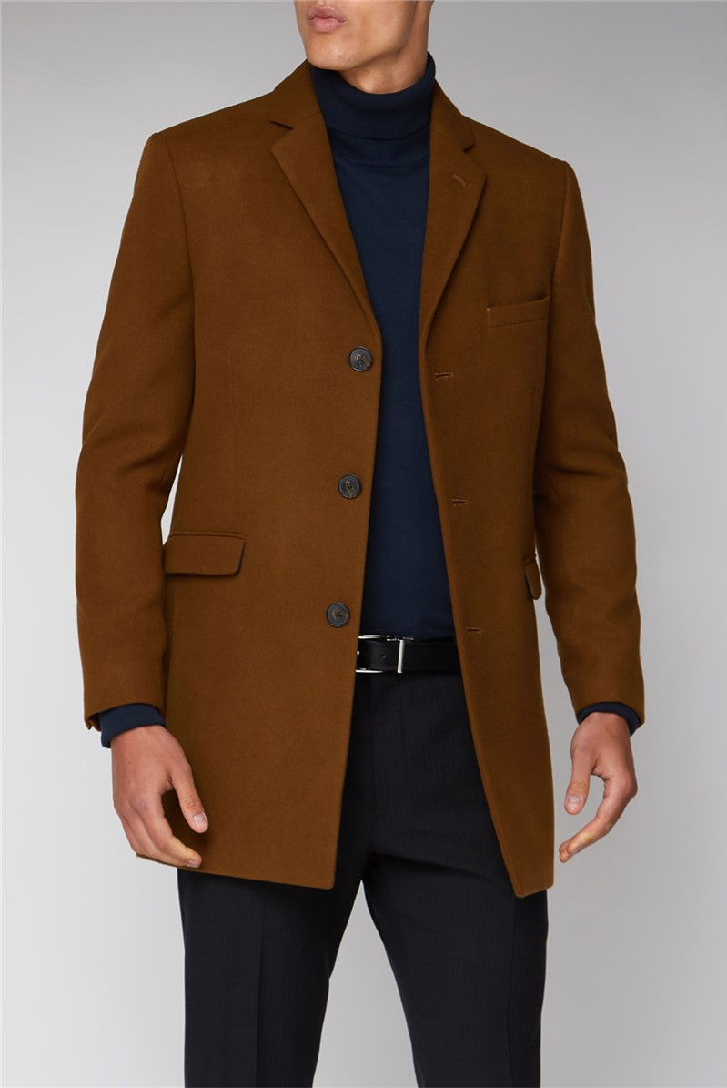 Tan Melton Overcoat