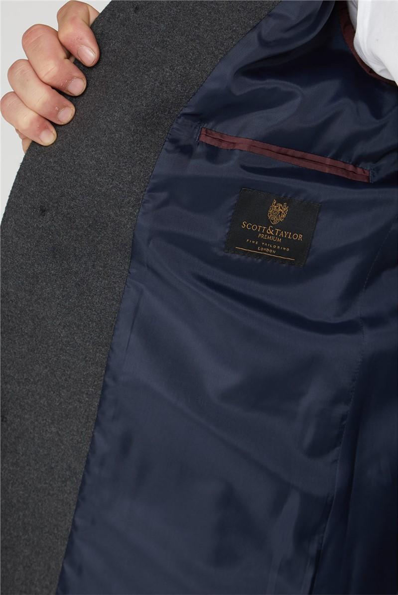 Charcoal Funnel Neck Coat