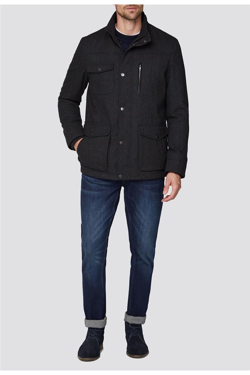 Grey Wool Marl Utility Jacket