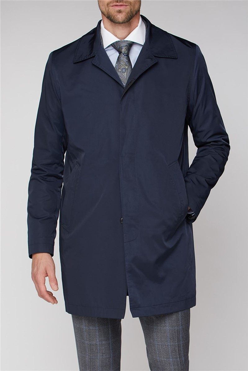 Navy Lightweight Raincoat