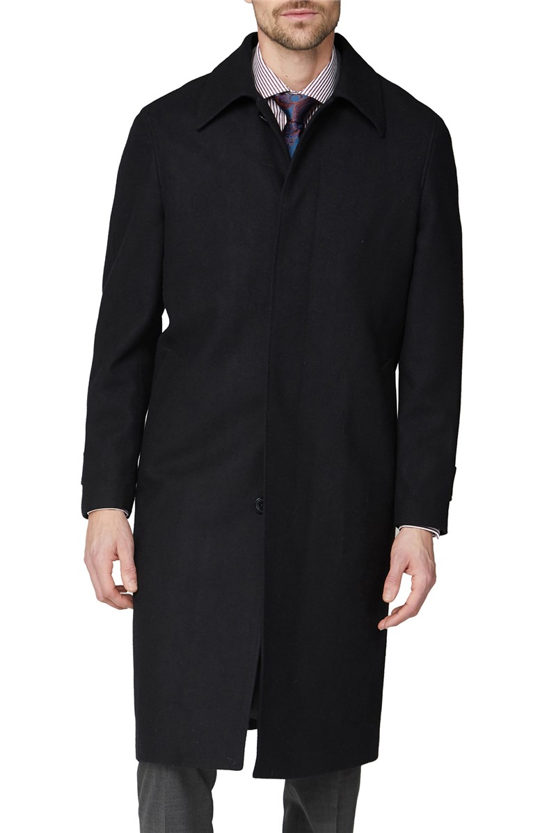 Jeff Banks Outlet Black Roma Overcoat